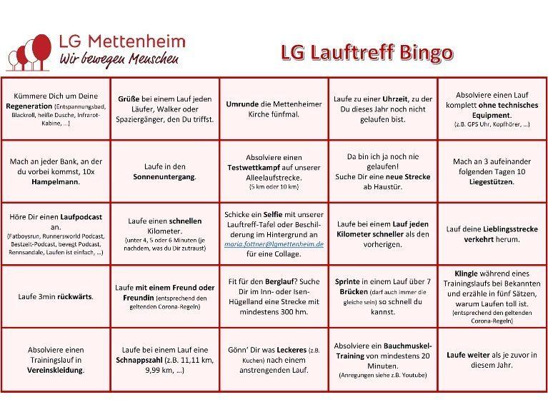 LG Lauftreff Bingo
